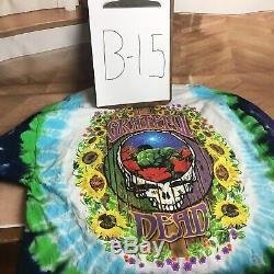Vintage Grateful Dead T Shirt'terrapin Station Tie Dye Taille XXL 1999 Ls