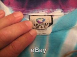 Vintage Grateful Dead T-shirt Tie Dye 1965-1995 Liquide Bleu Taille XL