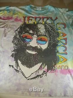 Vintage Jerry Garcia Band T-shirt Tie Dye Grateful Dead Jgb 1991 Liquid Blue XL