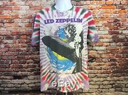 Vintage Led Zeppelin Tie Dye T-shirt Winterland L Taille Unique Cousue (112)