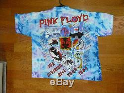 Vintage Pink Floyd 1994 The Division Bell Concert Tour T-shirt XL Bnwt Tie-dye