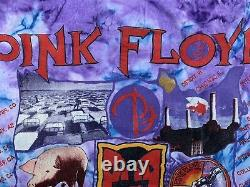 Vintage Pink Floyd Tie Dyed T Shirt The Division Bell Album Covers 1994 L-xl Vgc
