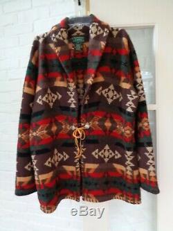 Vintage Ralph Lauren Lauren Handknit Laine Southwest Navajo Pull Manteau XL