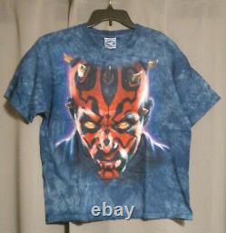 Vintage Star Wars Darth Maul Liquid Blue Tie-dye Shirt L