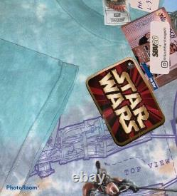 Vintage Star Wars Episode 1 Pod Racer Tie-dye T-shirt Nwt Taille XXL Vtg Rare Htf