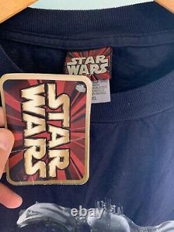 Vintage Star Wars Episode 1 Tie Dye Shirt Nwt Movie Promo 1999 Années 90