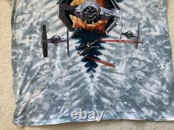 Vintage Star Wars Tie Fighter Dark Vador Liquid Blue Shirt XL