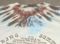 Vintage The Allman Brothers Band All Over Print Tie Dye 1995 Tour T-shirt Grand