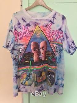 Vintage Vtg Rose Floyd Division Bell Tour Chemise 1994 Tie Dye Hommes XXL
