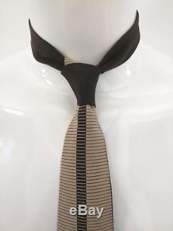 Vitaliano Pancaldi Cravate En Soie À Motif Art Déco Or