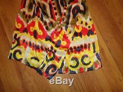 Vivienne Westwood Red Label Robe Africaine Tie-dye Africaine En Soie Ikat Multicolore, 14-uk