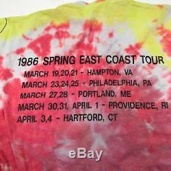 Vtg 1986 Grateful Dead Terrapin Parking Voyage De Concert Lot Mens Tie Dye Shirt M
