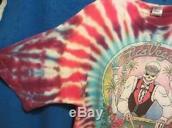 Vtg 1992 Grateful Dead Silver State Vegas Nevada Tie Dye Tournée De Printemps T-shirt XL