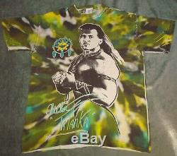 Vtg 1992 Tatanka Wwf Partout T-shirt Mens Imprimer XL Dye 90 Wrestling Tie Titan