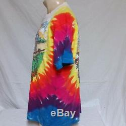 Vtg 1994 Grateful Dead T-shirt Summer Tour Tie Dye 90 T Concert Rock Band XL