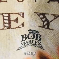 Vtg Bob Marley Tie Dye Graphic T-shirt Robert Nesta Delta Rare Hommes Grand