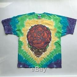 Vtg Grateful Dead 1998 Les Autres Colorant De Cravate Chemise Bleue Liquide