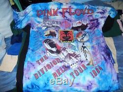 Vtg Pink Floyd The Division Bell Tournée 1994 Concert Tie Dye T-shirt XL Nos