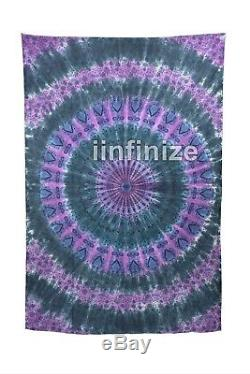 Wholsell Set 20 Mandala Tenture Murale Tapisserie Tie Dye Star Coton Hippie Jeté