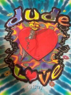 Wwf Vintage Dude Love All Over Imprimer Tie Dye Shirt XL Porter Jamais