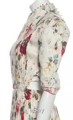 Zimmermann Backless Tie Ivoire / Blanc Cassé Mini Robe Xs Petit Alaia
