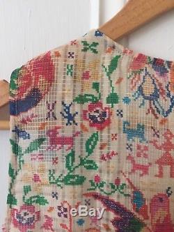 Zimmermann Nwt 1 / S Verano Tie Combishort Tapestry Combi-short Sans Manches En Soie Nouveau